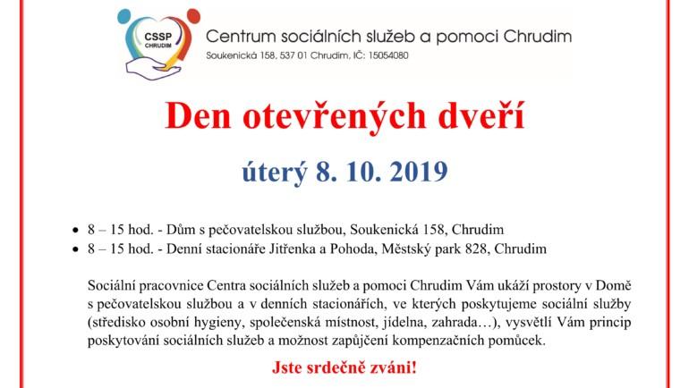 Pozvánka na Den otevřených dveří 2019