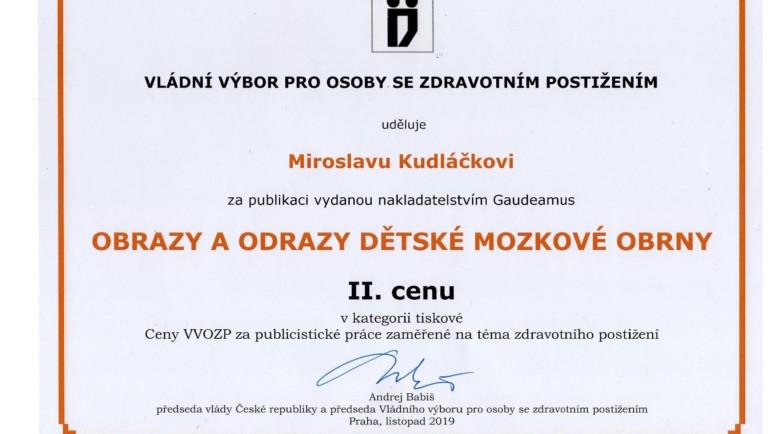 Ocenění pro pana Miroslava Kudláčka